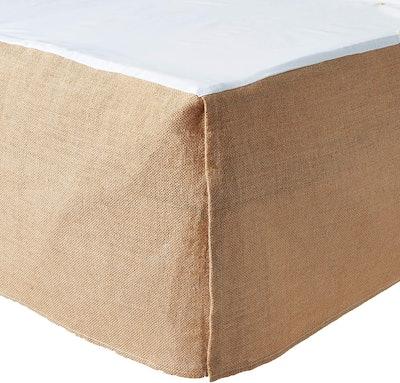 Greenland Home Burlap Bed Skirt