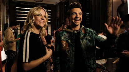 Heléne Yorke as Brooke Dubek and Drew Tarver as Cary Dubek in The Other Two Season 1