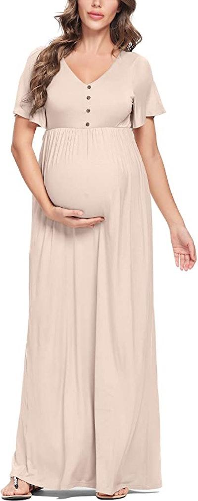 Peauty Button Down Maternity Dress