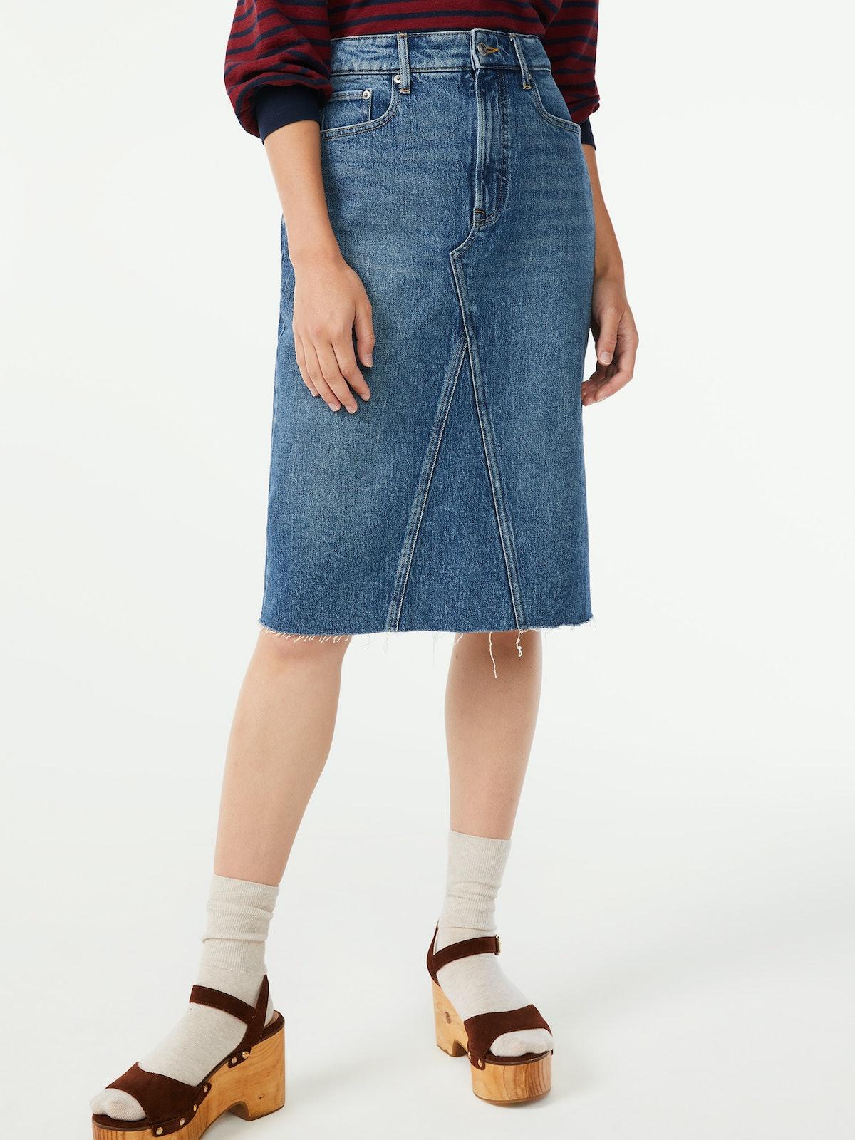 Denim Recon Skirt