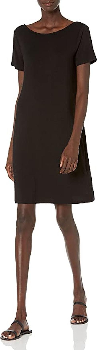 Daily Ritual Jersey Standard-Fit Ballet-Back T-Shirt Dress