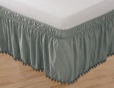 Elegant Comfort Pom-Pom Bed Skirt