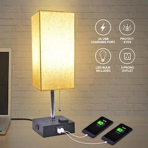 GOLSPARK USB Bedside Table Lamp