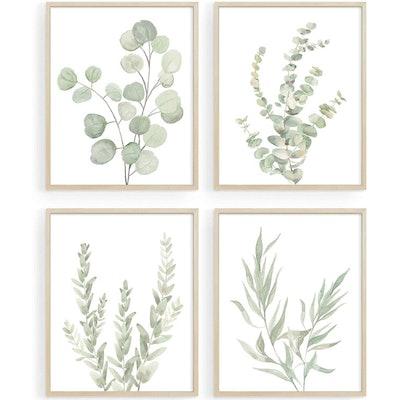 Howwii Botanical Wall Art (Set of 4)