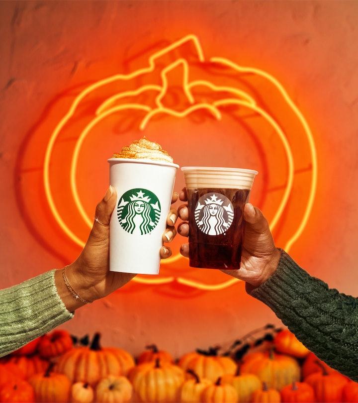 Pumpkin spice lattes are back at Starbucks.