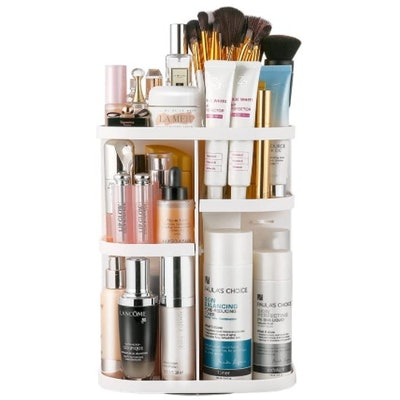Jerrybox 360-Rotating Makeup Organizer