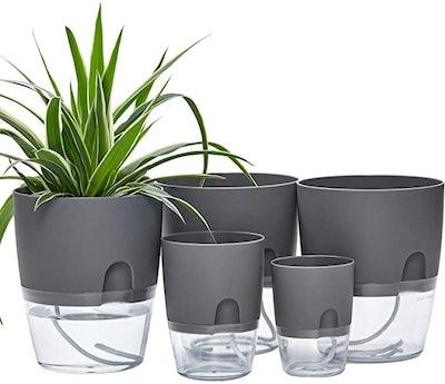 ETGLCOZY Self Watering Planter Pots (5-Pack)