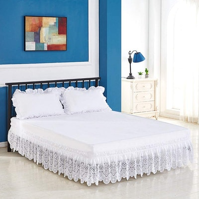 Tebery Lace Trimmed Bed Skirt
