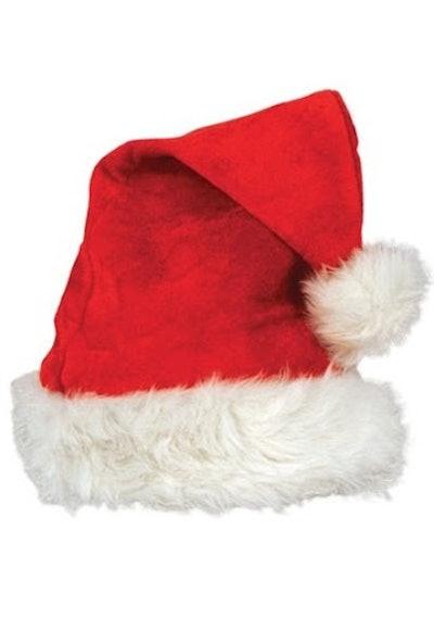 Deluxe Velvet Santa Hat