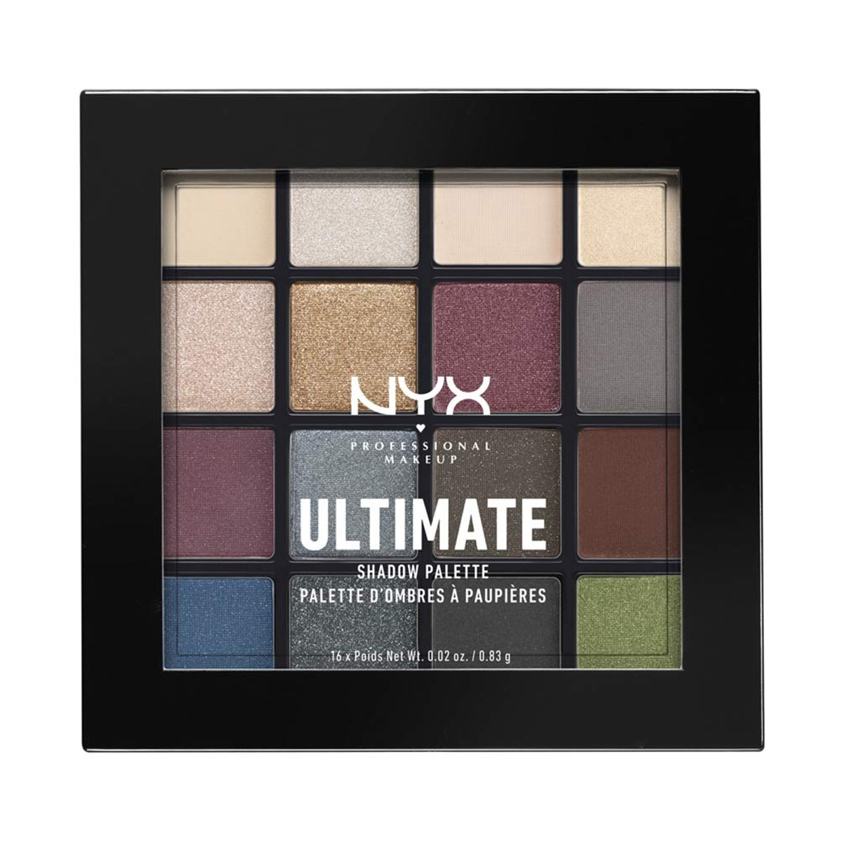 NYX Professional Makeup Ultimate Shadow Palette in Smokey & Highlight