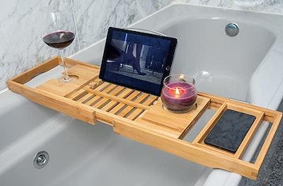 Utoplike Bamboo Bathtub Caddy Tray