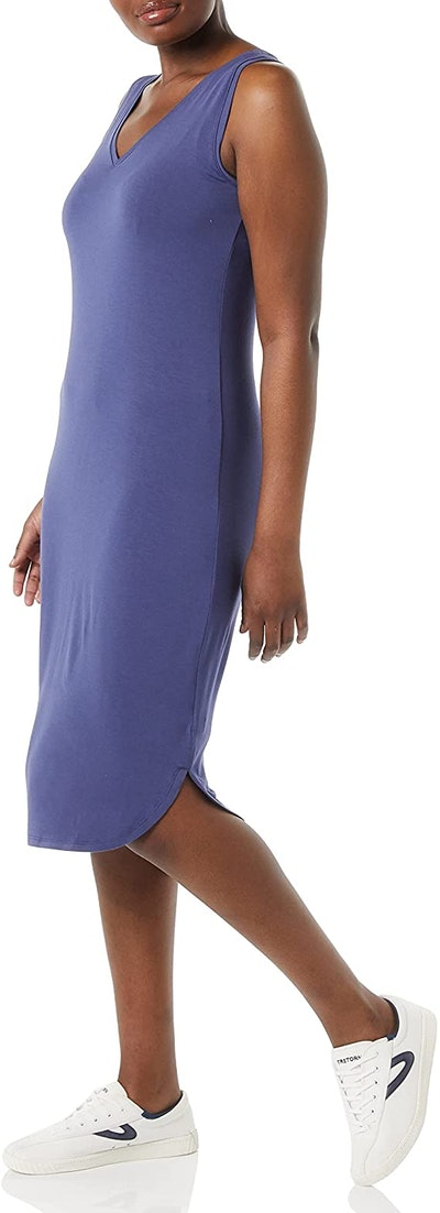 Daily Ritual Jersey V-Neck Midi Dress