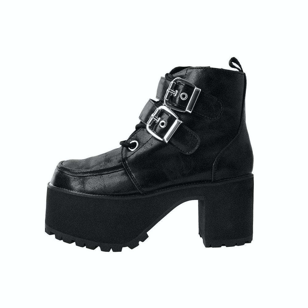 Black 2-Buckle Nosebleed Boot