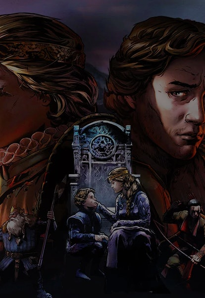 promotional illustration of characters from Thronebreaker: The Witcher Tales