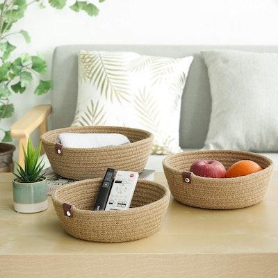 Goodpick Woven Storage Basket (3 Pack)