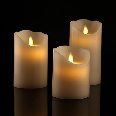 Antizer Flameless Candles (Set of 3)