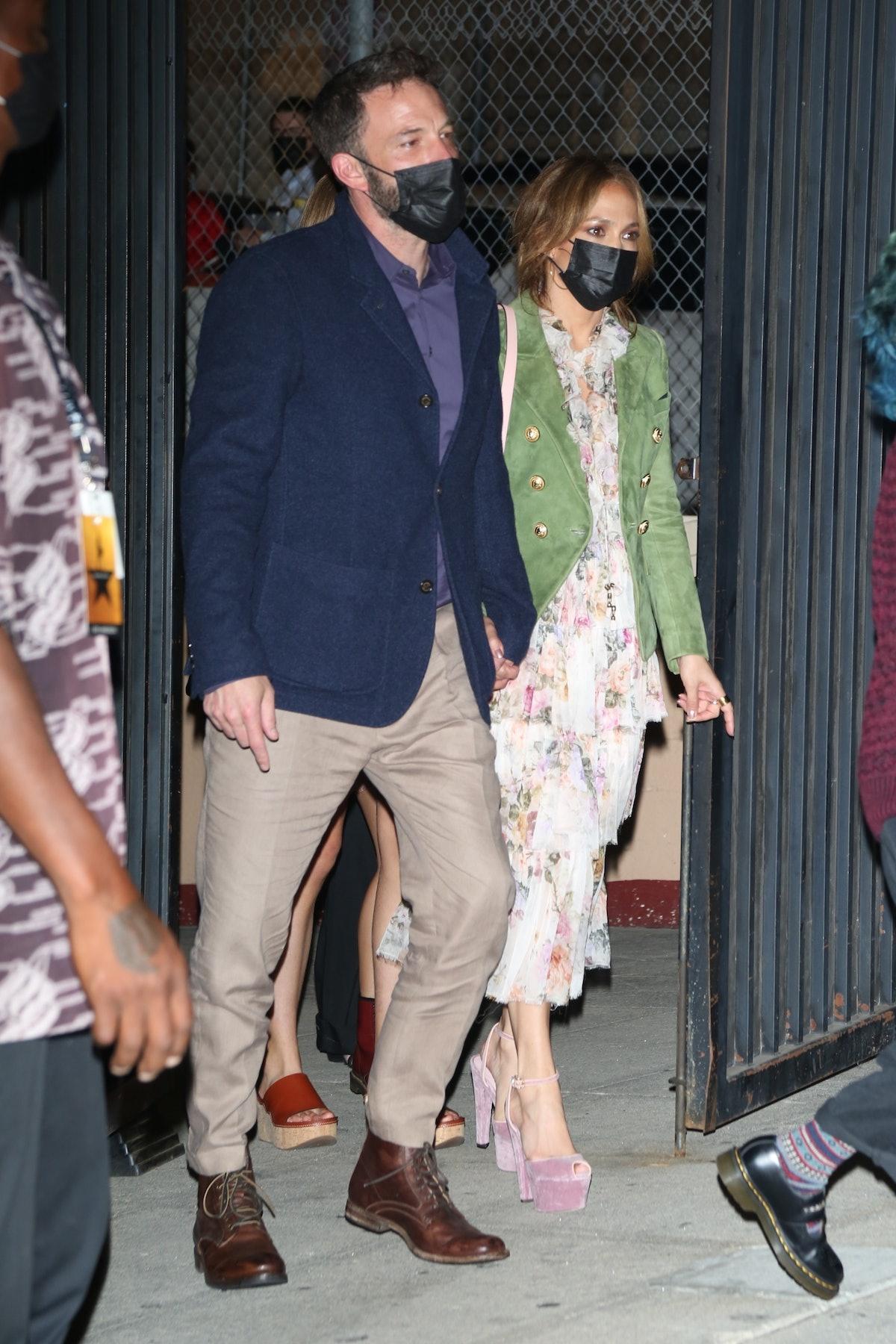 Ben Affleck and Jennifer Lopez take their kids to see Hamilton.