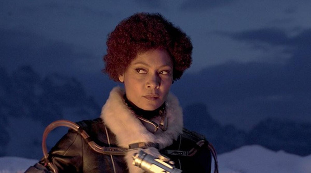 Thandiwe Newton as Val in Solo: A Star Wars Story.