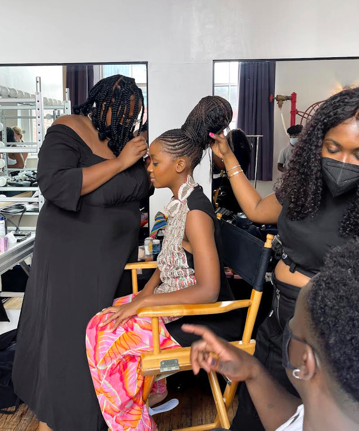 Hairstylist Lacy Redway gave Thuso Mbedu a style of braids worn by the Zulu people.