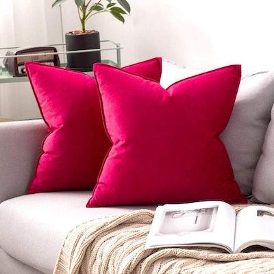 MIULEE Decorative Velvet Throw Pillow Cover (2-Pack)