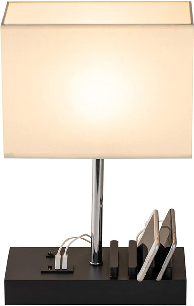 Briever Multi-Functional Desk Lamp with 3 USB Charging Ports and Phone Charge Dock