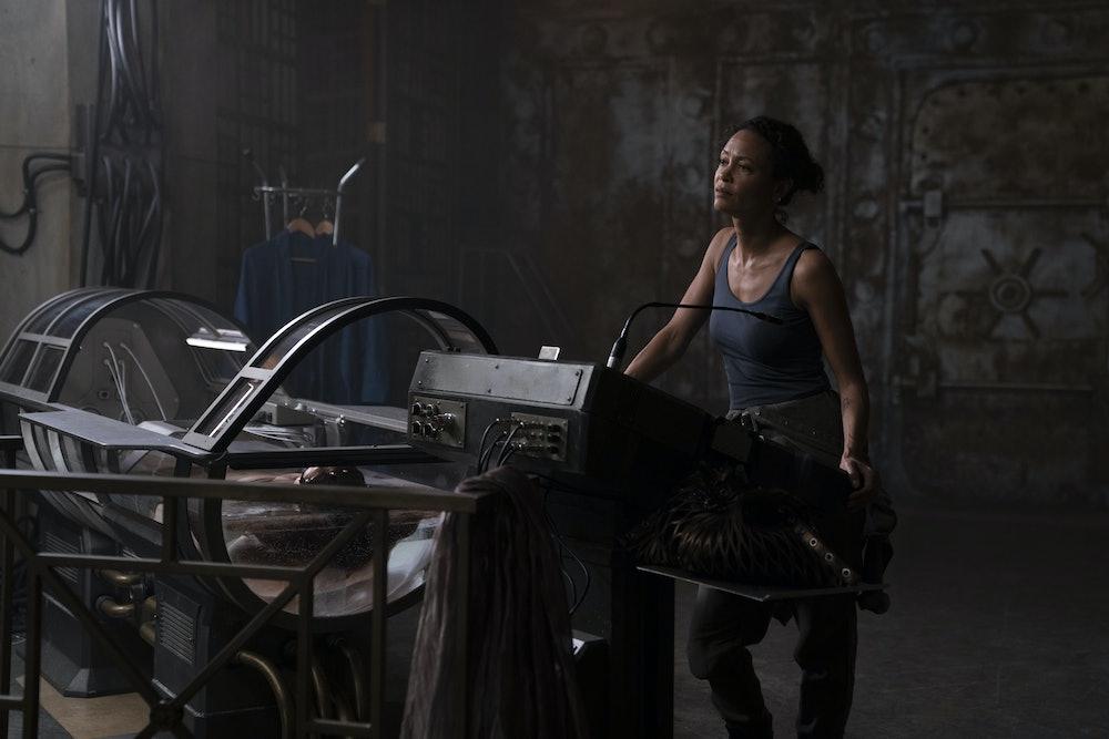 Thandiwe Newton as Watts in Warner Bros. Pictures' sci-fi thriller Reminiscence.