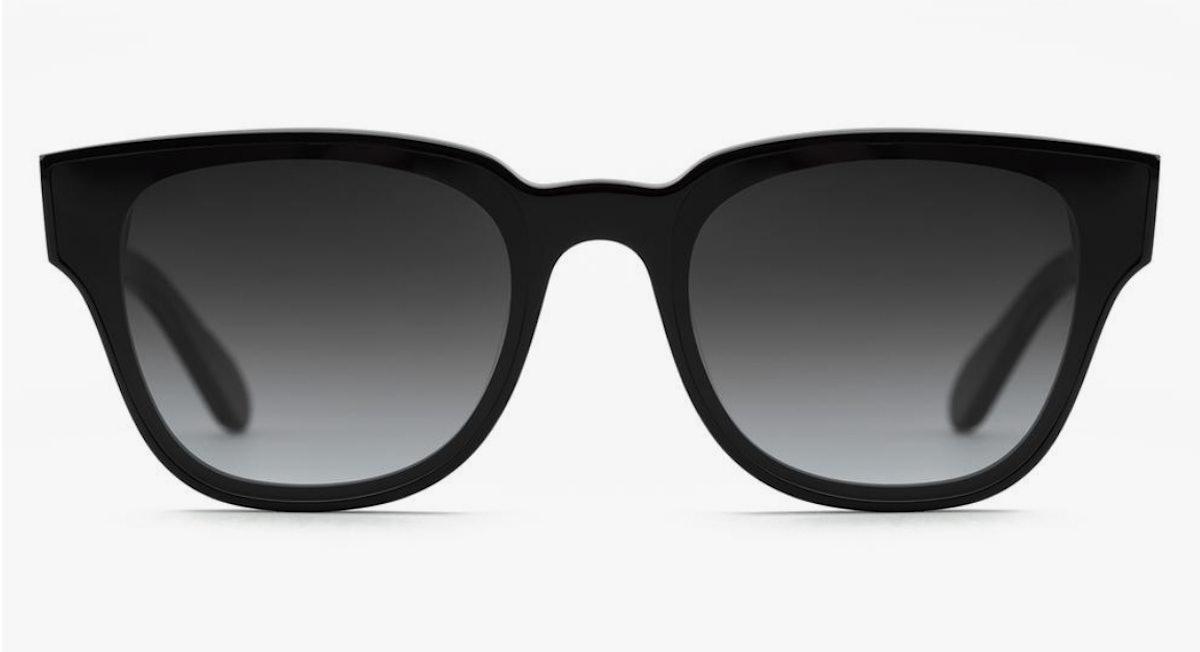 KREWE's Webster Nylon black sunglasses.