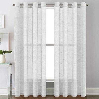 H.VERSAILTEX Linen Curtain Panels