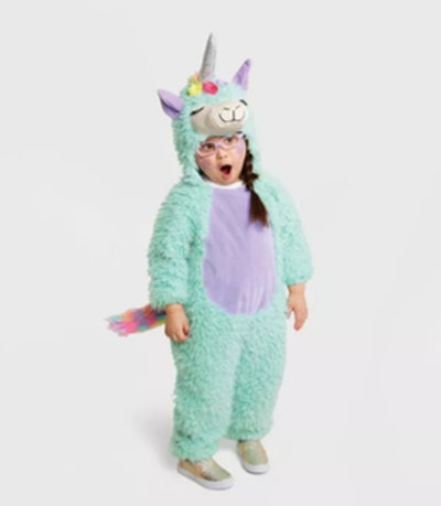 Toddler Plush Magical Llama Jumpsuit
