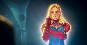 Captain Marvel at the end of What If? Episode 3