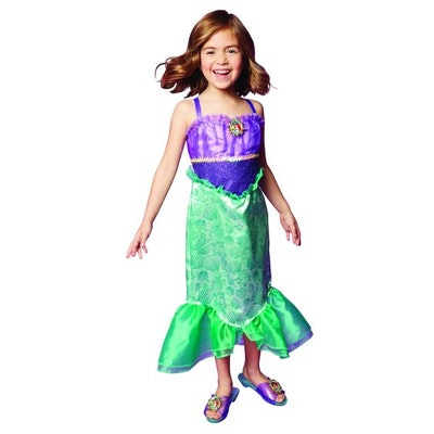 Disney Princess Ariel Dress Costume, Perfect for Party, Halloween Or Pretend Play Dress Up For Girls...