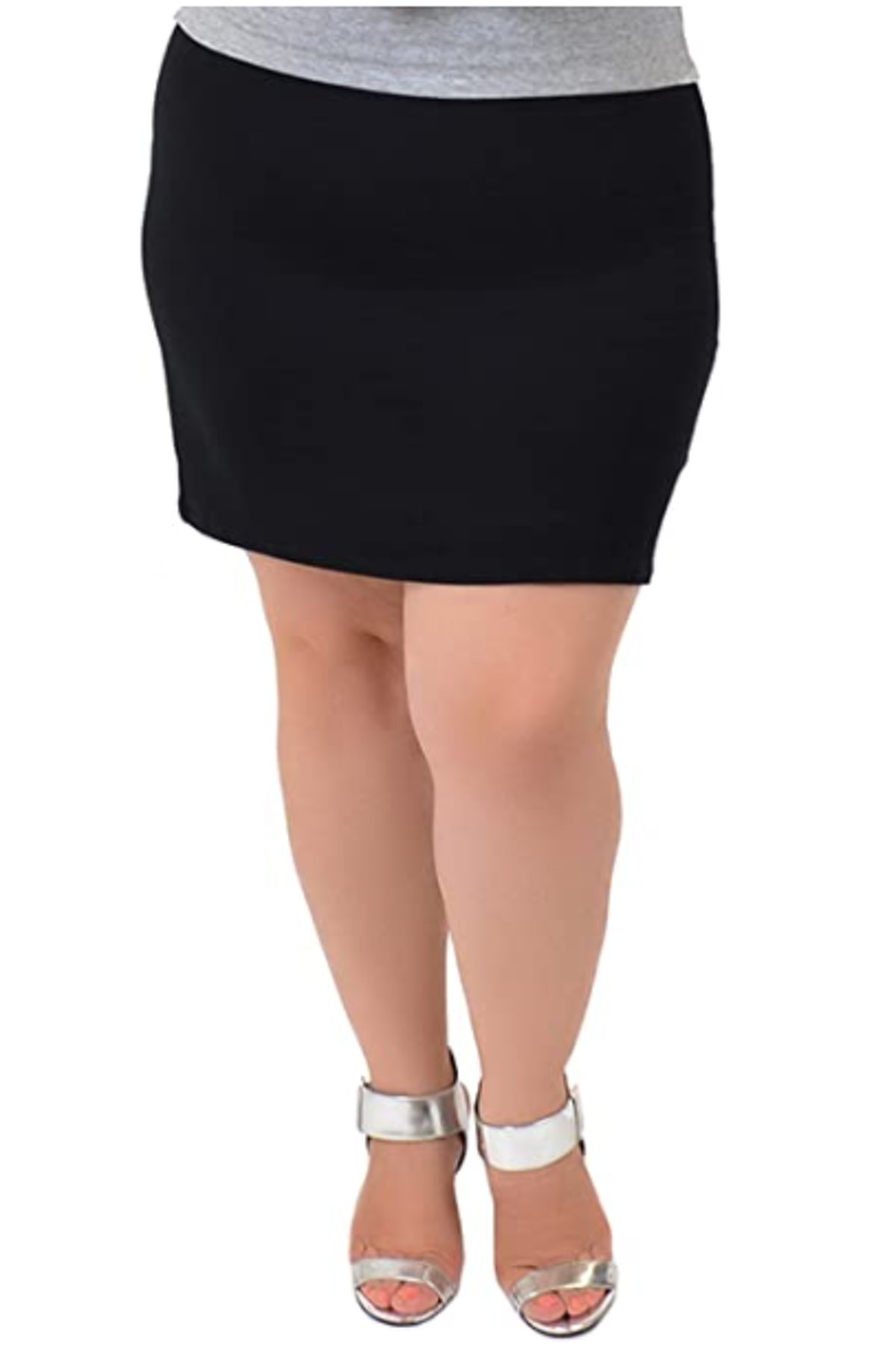 Stretch is Comfort Plus Size Stretch Mini Skirt