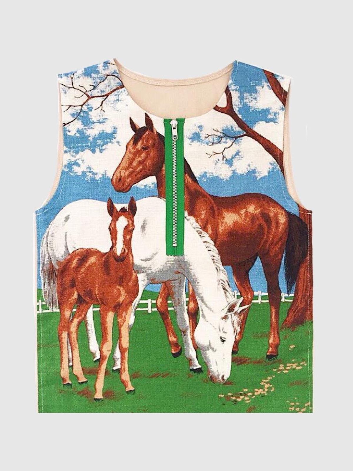 Adam Jones Horse Vest With Zip