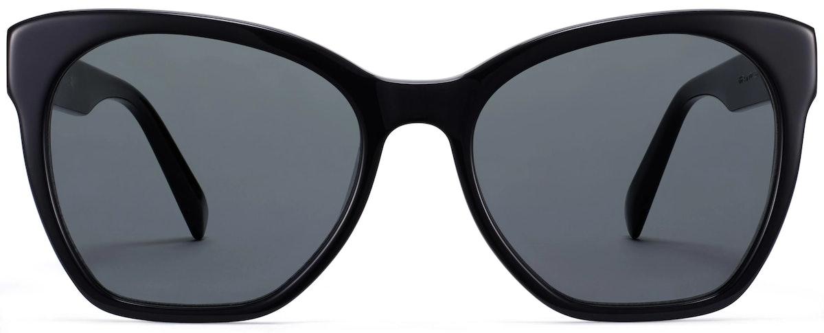 Warby Parker Rhea sunglasses in Jet Black.