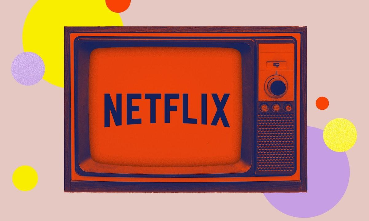 Netflix's logo on a TV set