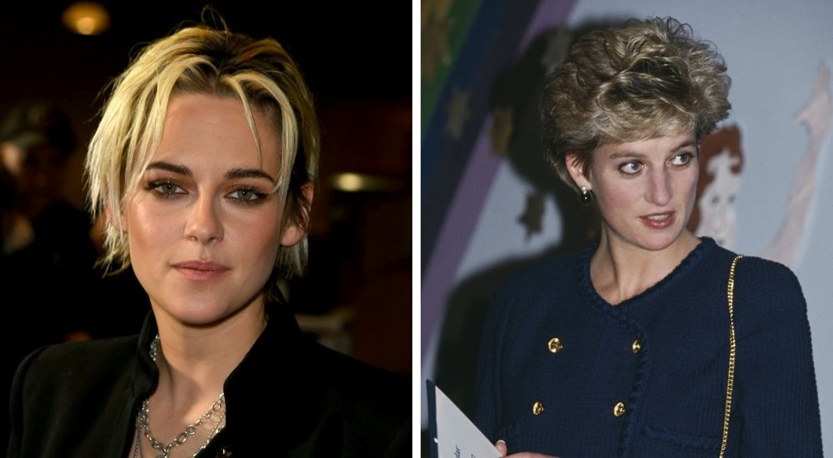 Actress Kristen Stewart and real Princess Diana