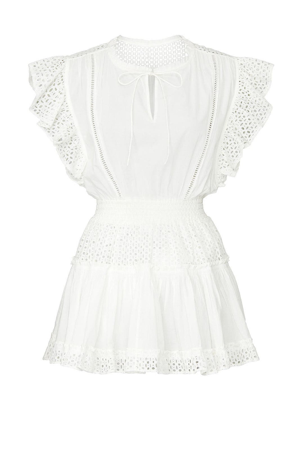 White Sakira dress from MISA Los Angeles, available to shop or rent via Rent The Runway.