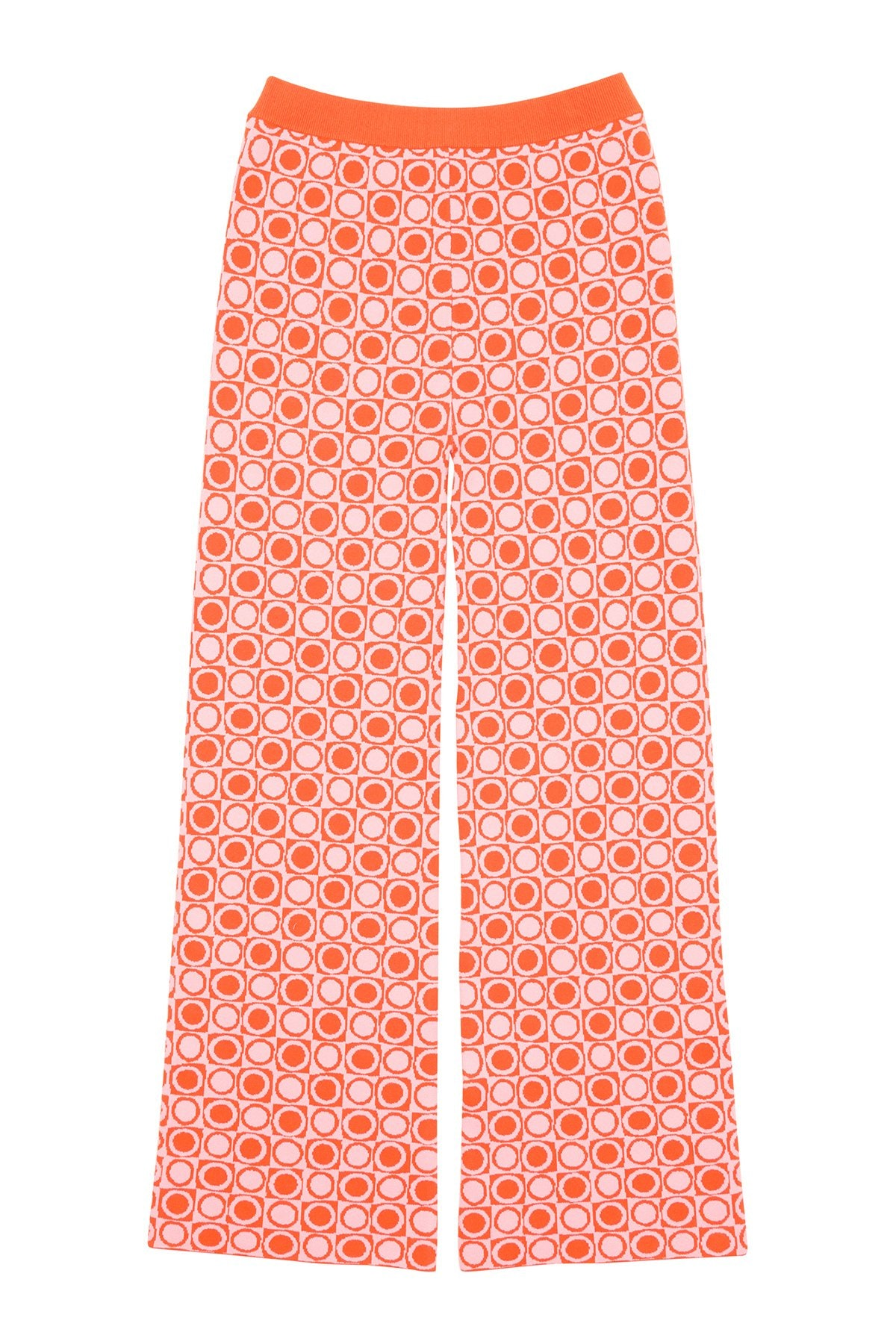 Holiday the Label Knit Pants In Circle Check