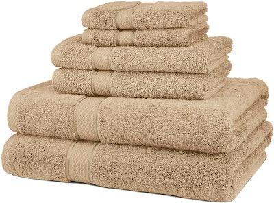Pinzon Blended Egyptian Cotton Bath Towel Set (6 Pieces)