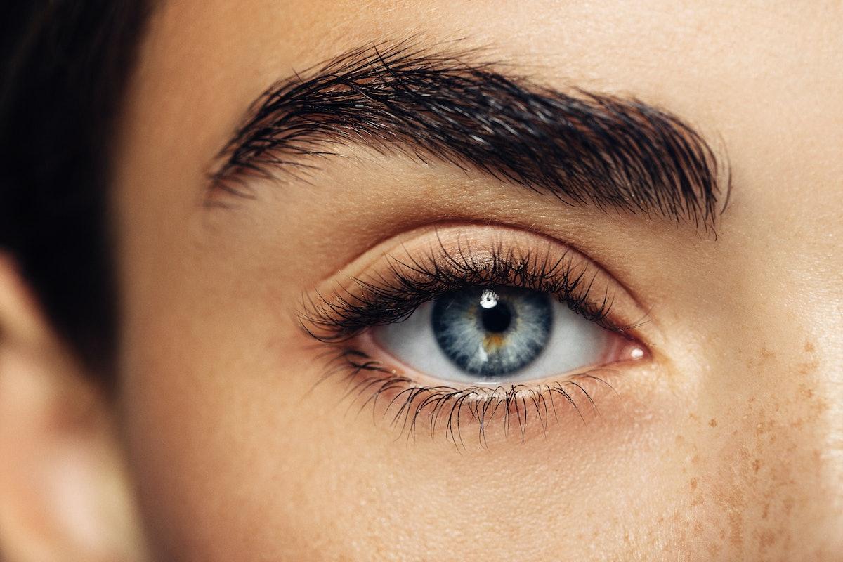 Woman's eyelashes