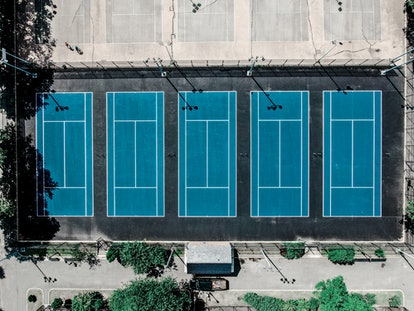 Naomi Osaka's childhood tennis courts in Queens, NY.