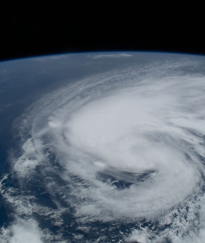 Hurricane Henri off US East Coast seen from space