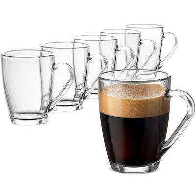 Ormioli Rocco Glass Coffee Mug (Set of 6)