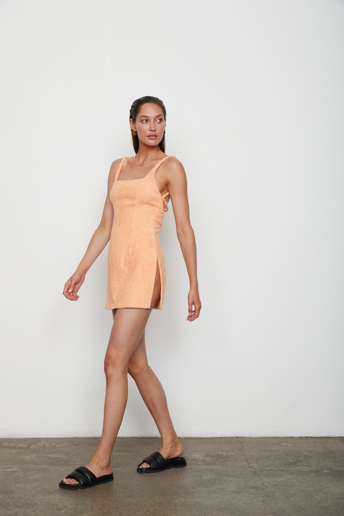 The Hali dress in mango from ATOÌR.