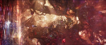 The Quantum Realm city seen briefly in Ant-Man and the Wasp