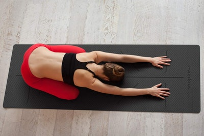 Ewedoos Alignment Lines Yoga Mat