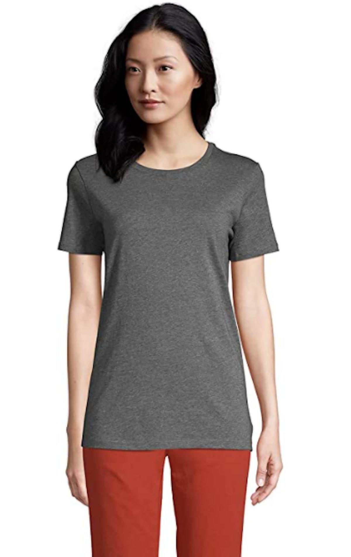 Lands' End Supima Cotton Short Sleeve Crewneck T-Shirt