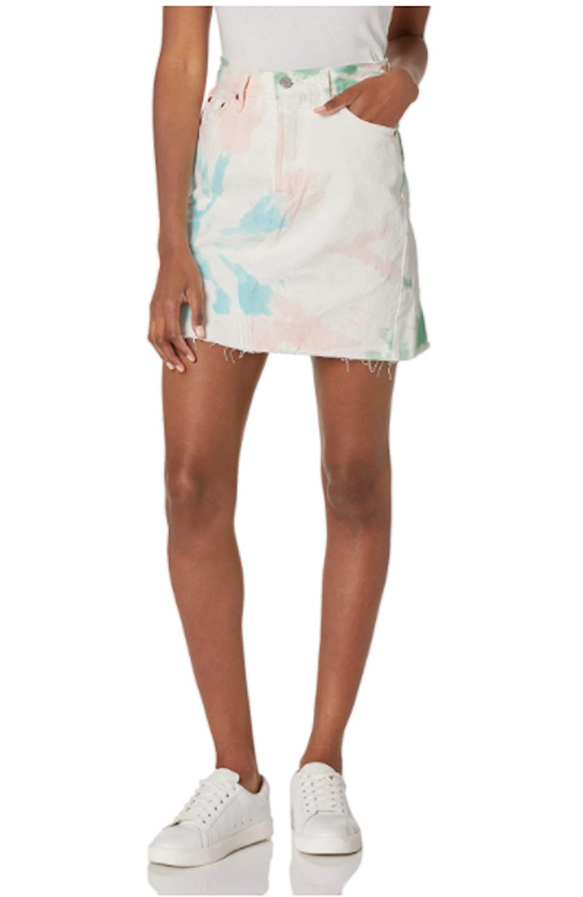 Levi's Premium High-Rise Deconstructed Skirt