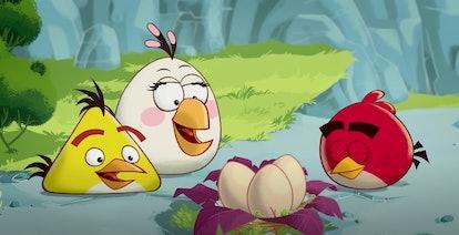 Angry Birds is a cartoon show based on the phone app.