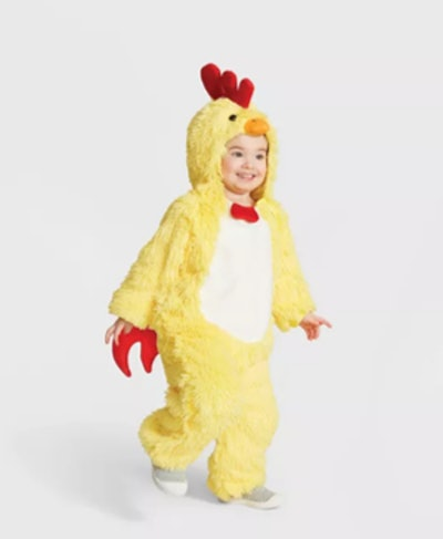 Toddler Plush Chicken Halloween Costume Jumpsuit